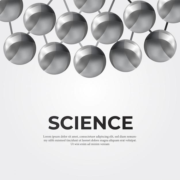 金属球構造分子 Premiumベクター