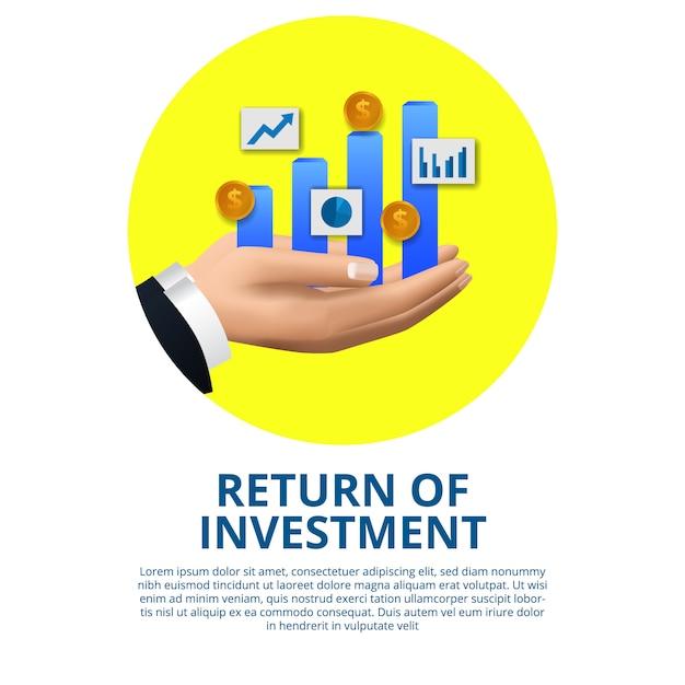 Возвращение инвестиционной концепции бизнес финансы рост стрелка успех Premium векторы