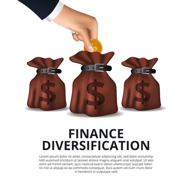 金融商品の資金管理の多様化資本ファンド Premiumベクター