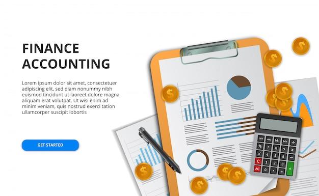Бизнес-концепция для анализа данных отчета для финансов, маркетинга, исследований, управления проектами, аудита. Premium векторы