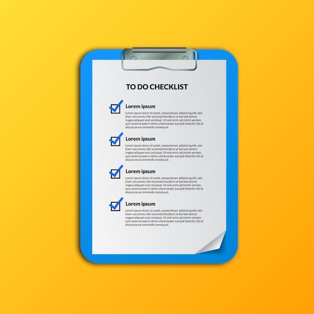 準備または計画のためのリスト文書を行うためのチェックマーク、事業計画または活動のスケジュール、または編成 Premiumベクター