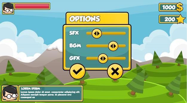 シンプルなゲームインターフェース Premiumベクター