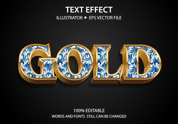 Редактируемый текст стиль эффект золотой премиум Premium векторы