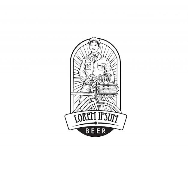 ビール会社のロゴ Premiumベクター