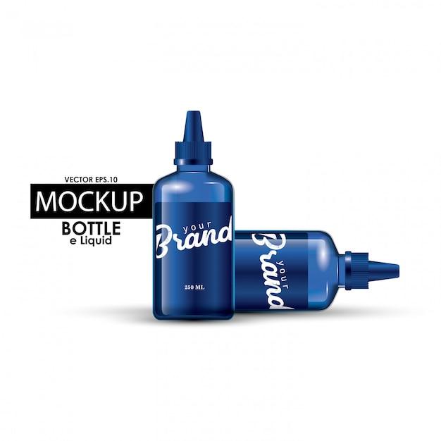 モックアップボトル Premiumベクター