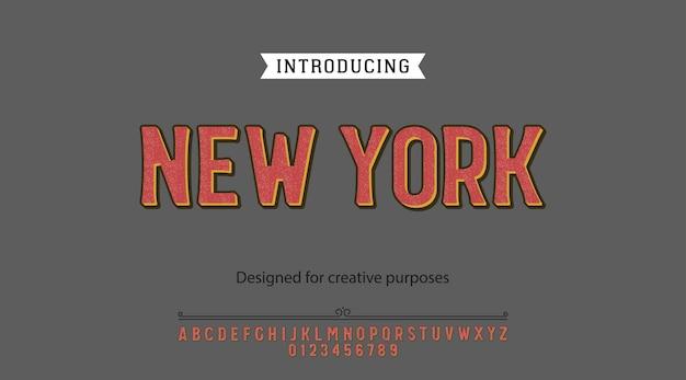 太字書体。ラベルおよび種類の異なるデザイン用 Premiumベクター