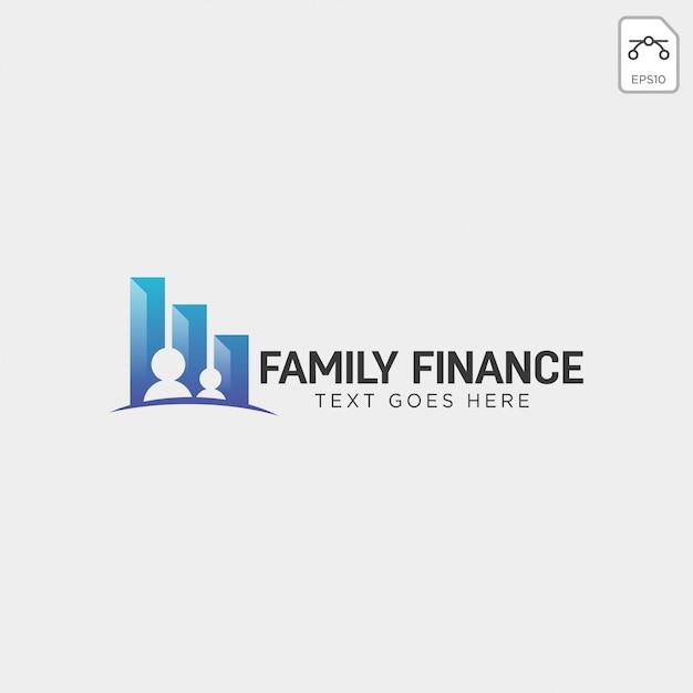 家族金融、ビジネスのロゴのテンプレートベクトルイラストアイコン要素 Premiumベクター