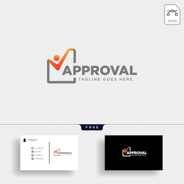 Проверка шаблона логотипа Premium векторы