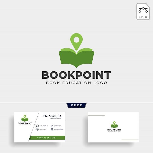 Маркер булавки книги или карта навигации простая линия логотип Premium векторы