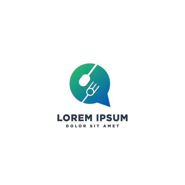 フードシェフのロゴデザインベクトル Premiumベクター
