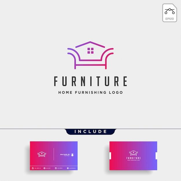 家具のロゴデザイン Premiumベクター