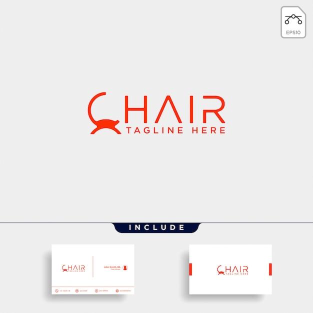 椅子のロゴの分離 Premiumベクター