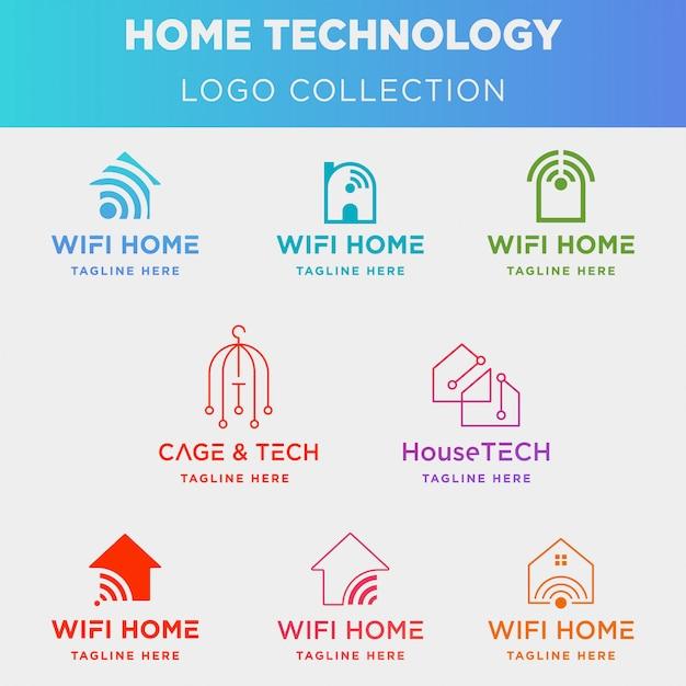ホームテクノロジーのロゴコレクション Premiumベクター