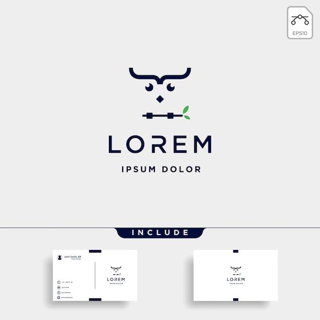コーディングフクロウのロゴデザインのベクトル Premiumベクター