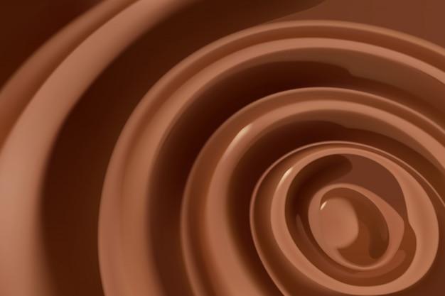 溶かしたチョコレートの渦巻き Premiumベクター
