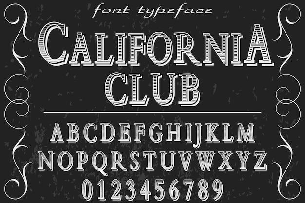 カリフォルニアクラブのアルファベットラベルデザイン Premiumベクター