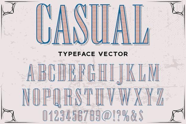 レタリング書体フォントデザインカジュアル Premiumベクター
