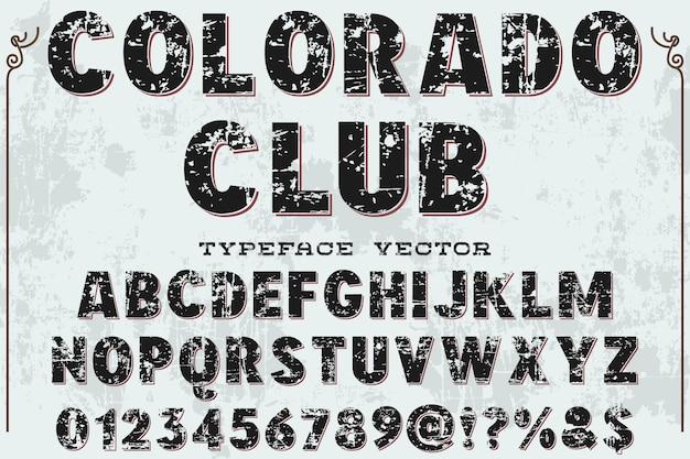 書体アルファベットグラフィックスタイルコロドクラブ Premiumベクター