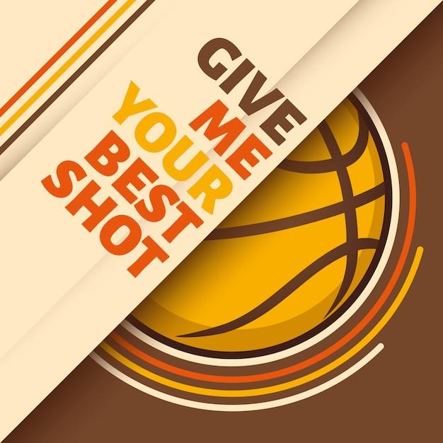 バスケットボールの背景 Premiumベクター