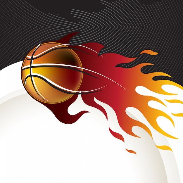 バスケットボールの背景デザイン Premiumベクター