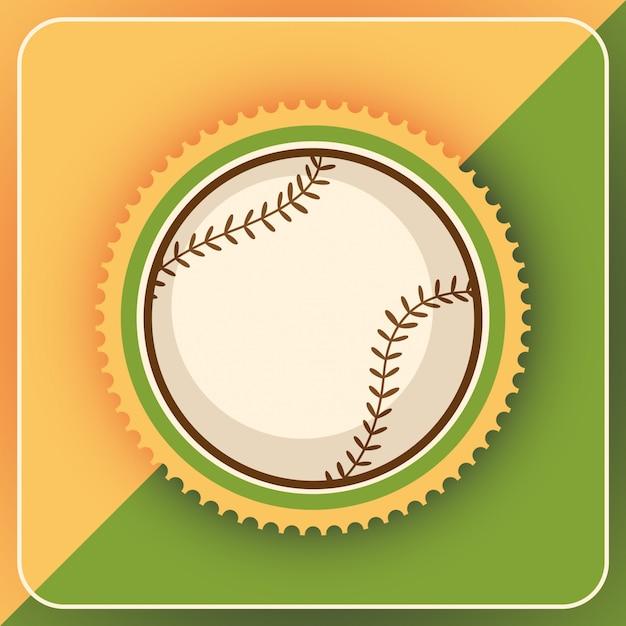 野球の背景 Premiumベクター