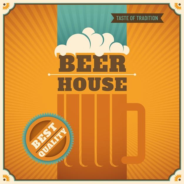 ビールの家の背景 Premiumベクター