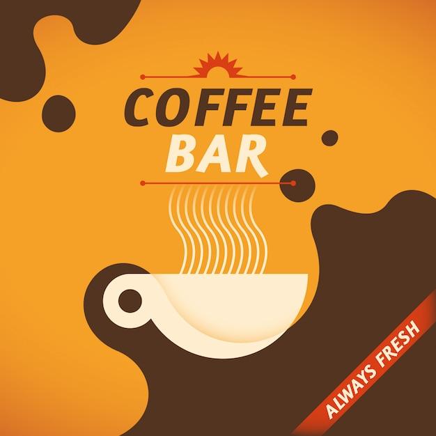 コーヒーの背景 Premiumベクター