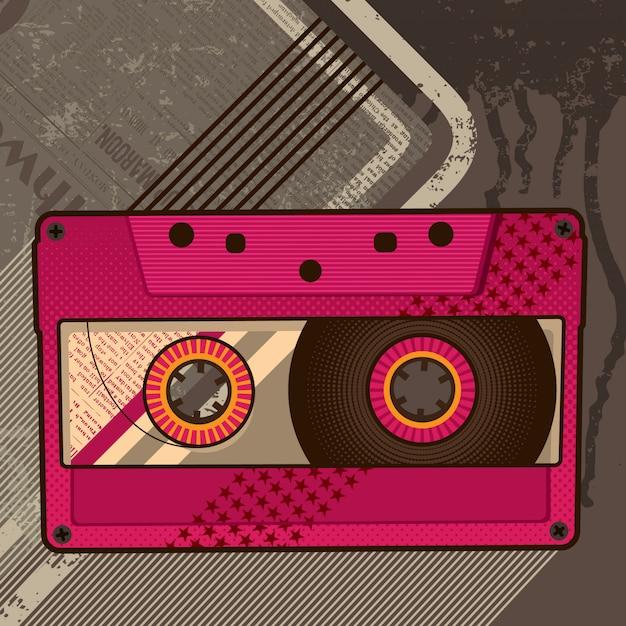 オーディオカセットの図 Premiumベクター