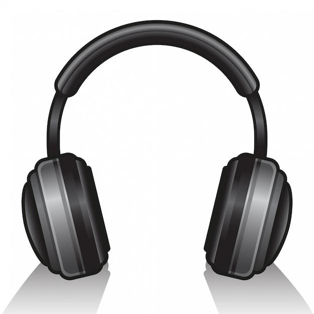 白の分離のヘッドフォン Premiumベクター