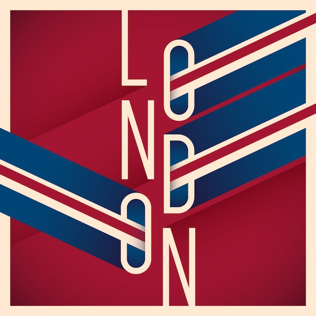 Типографский лондонский фон Premium векторы