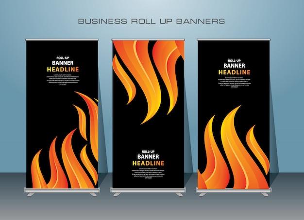 Креативный дизайн баннера в темноте Premium векторы