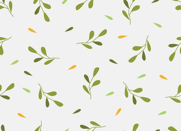 Тропический цветок бесшовные модели весеннего сезона. Premium векторы