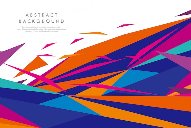 Креативные цветные абстрактные геометрические фигуры Premium векторы