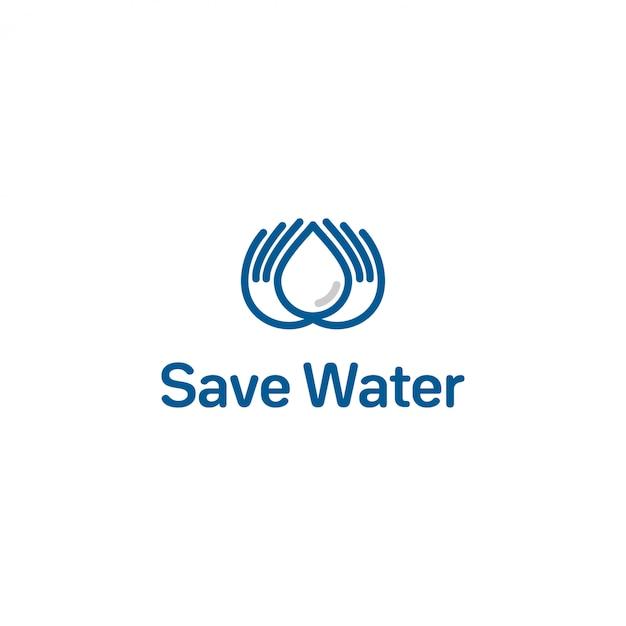 水のロゴを保存 Premiumベクター