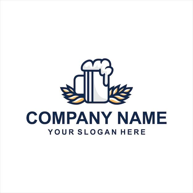 ビールのロゴ Premiumベクター