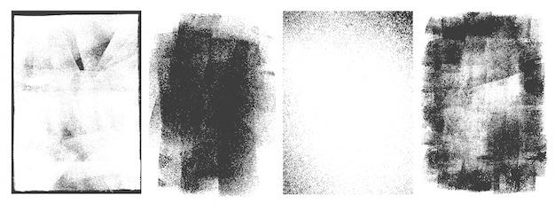長方形のレトロなフレームセット 無料ベクター