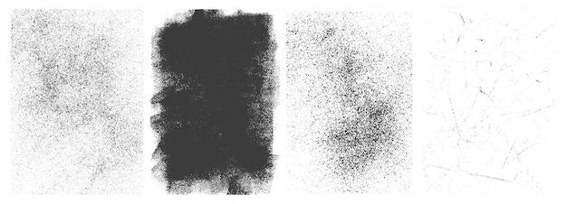 Установлены ретро гранж баннеры Бесплатные векторы