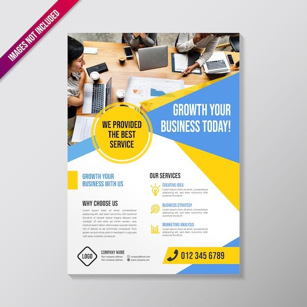 クリエイティブビジネスパンフレットのデザインテンプレート Premiumベクター