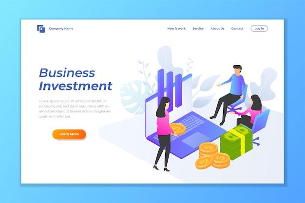 Бизнес инвестиции веб-баннер фон Premium векторы