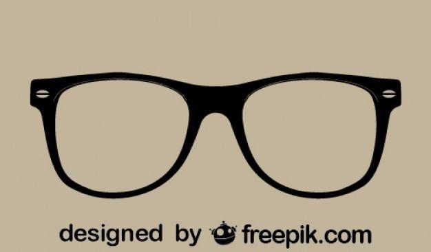 レトロなベクトルメガネ 無料ベクター