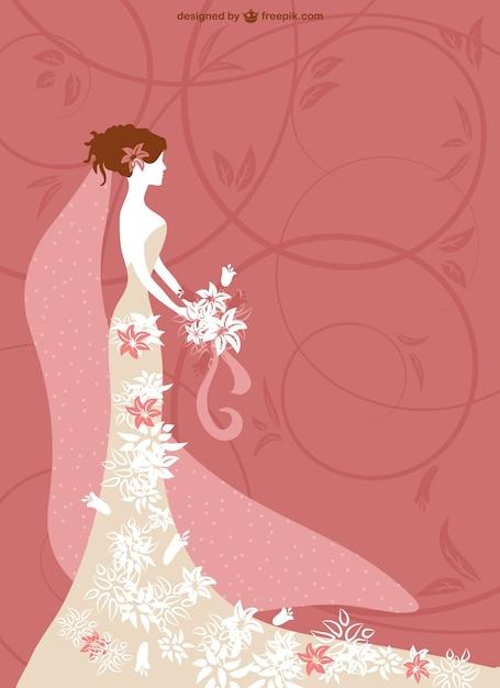 結婚式のカードの背景ベクトル 無料ベクター