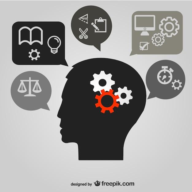 思考脳画像のベクター素材 無料ベクター