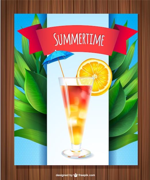 新鮮な夏の飲み物ベクトル 無料ベクター