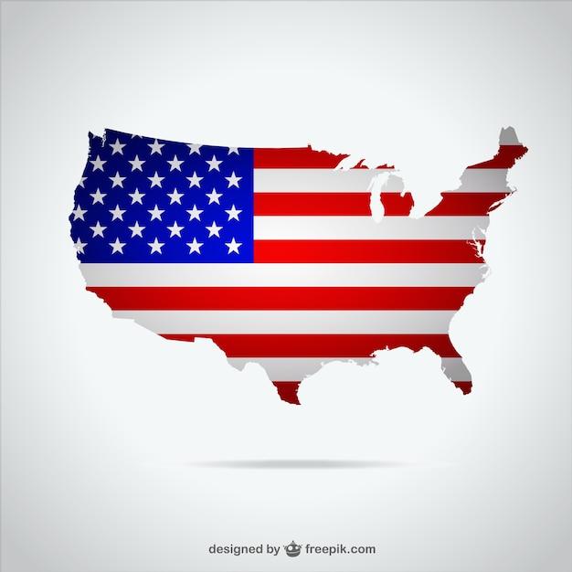 アメリカ·マップ·イラスト 無料ベクター