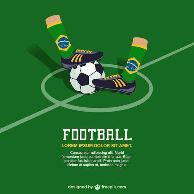 ブラジルのサッカーのベクトル無料の画像 無料ベクター