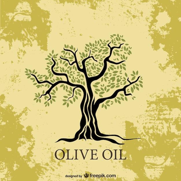 オリーブの木ベクトル図 無料ベクター