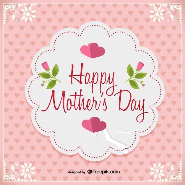День вектор бесплатно открытку матери Бесплатные векторы