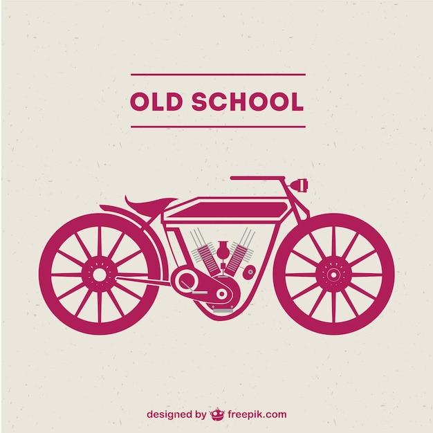 Старой школы мотоцикл свободный вектор Бесплатные векторы