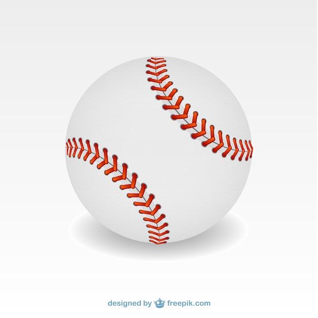 野球のボールのイラスト 無料ベクター