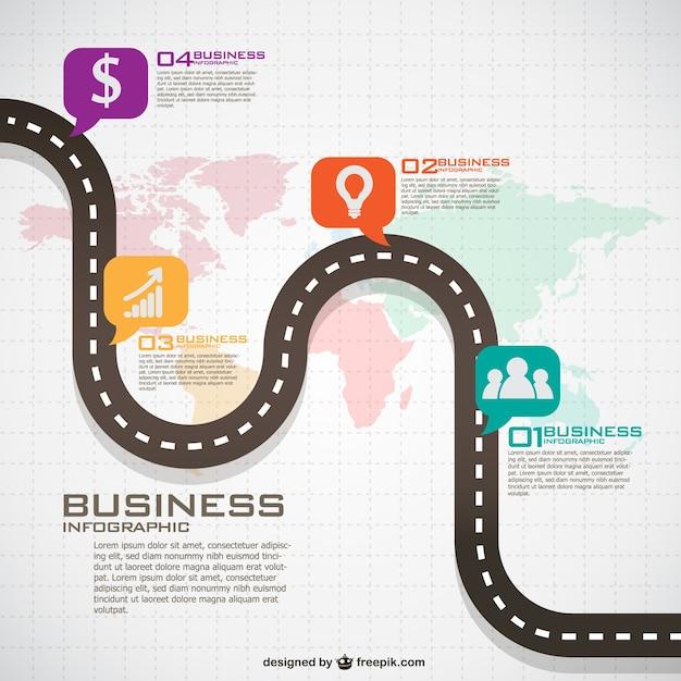 Инфографики глобальный бизнес-план Бесплатные векторы